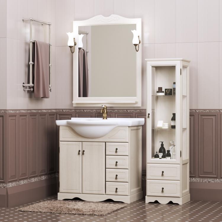 Мебель для ванной Опадирис Клио (белый) 70, 80