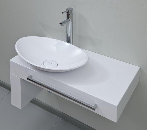 Модуль с раковиной (в форме овальной чаши, белая) Severita 2, 800х515х515, шпон