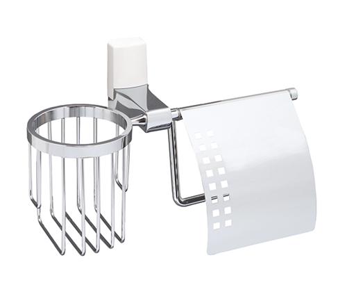 Держатель туалетной бумаги и освежителя WasserKRAFT Leine (White) К-5059
