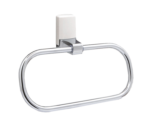 Держатель полотенец, кольцо WasserKRAFT Leine (White) К-5060