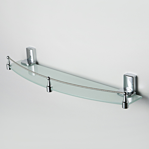 Полка стеклянная с бортиком WasserKraft