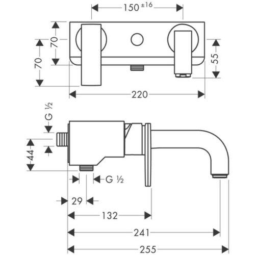 Смеситель AX Citterio для ванны однорычажный