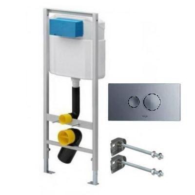 Комплект инсталляции Eco Set, кнопка хром глянец 596323, крепеж