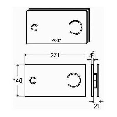 Кнопка смыва Viega Visign for Style 12 черная 597498