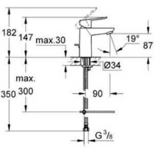Смеситель Grohe  BauEdge 23329000 для раковины, с цепочкой