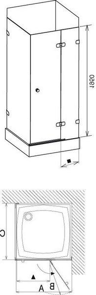 Душевая дверь Ravak Brilliant BSDPS-110/80 хром/транспарент правая