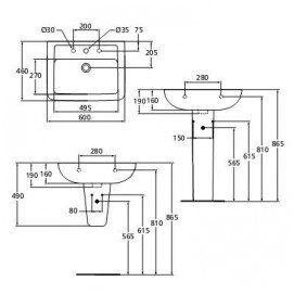 Раковина Ideal Standard Eurovit V302901