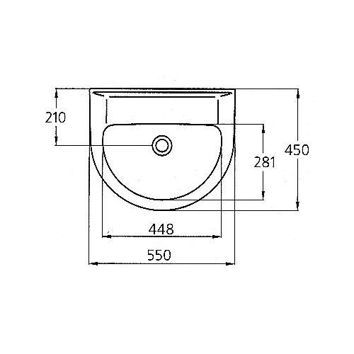 Умывальник Ideal Standard Ecco W434001