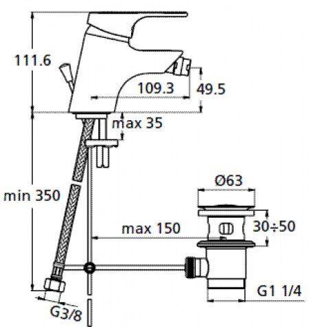 Смеситель для биде Ideal Standard Slimline II B 8670 AA