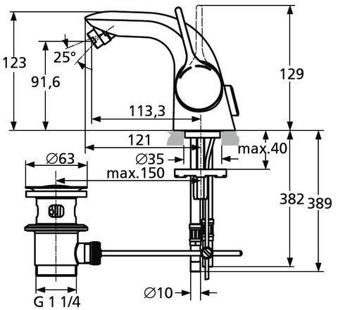Смеситель для биде Ideal Standard Melange A 4268 AA