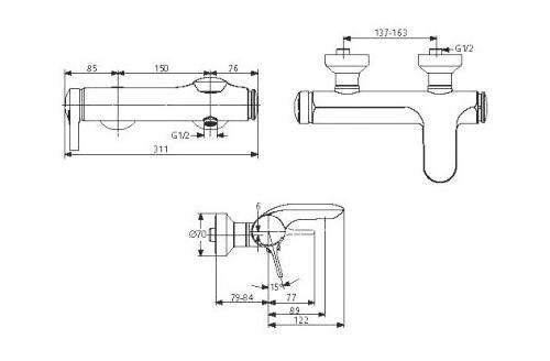 Смеситель для ванны Ideal Standard Melange A 4271 AA