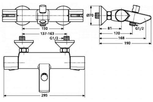 Смеситель для ванны Ideal Standard Active A 4050 AA