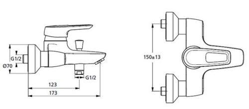 Смеситель для ванны Ideal Standard Ceramix Blue B 9490 AA