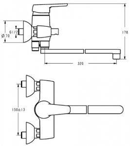 Смеситель для ванны Ideal Standard Cerasprint B 9569 AA