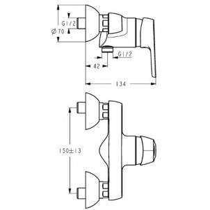 Смеситель для душа Ideal Standard Cerasprint B 9570 AA