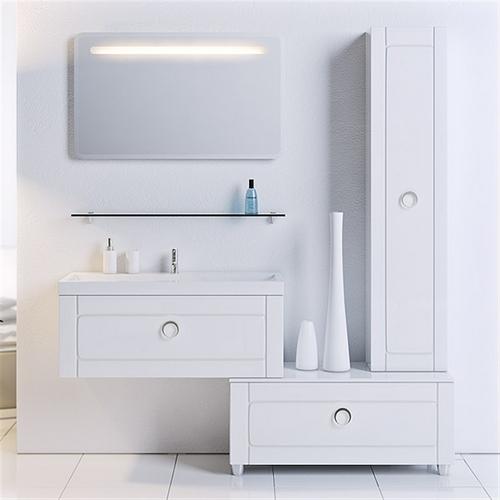 Мебель для ванной Aqwella Инфинити 80 (белый)