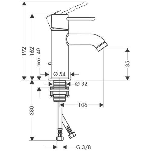 Смеситель Hansgrohe Ax Uno2 для раковины (38020000)