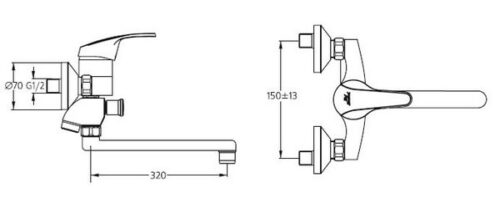 Смеситель для ванны Ideal Standard Ceraplan B 7566 AA