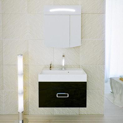 Мебель для ванной Aqwella Темпо 70 (черный)