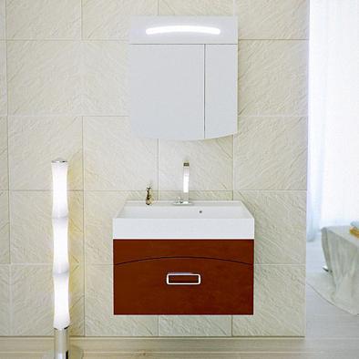 Мебель для ванной Aqwella Темпо 70 (бордовый)