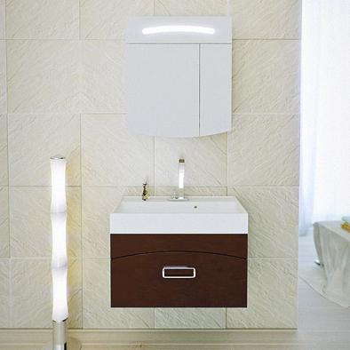 Мебель для ванной Aqwella Темпо 70 (коричневый)