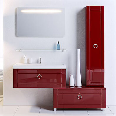 Мебель для ванной Aqwella Инфинити 80 (бордовый)