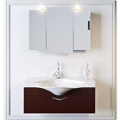 Мебель для ванной Aqwella Бродвей 110 (коричневый)