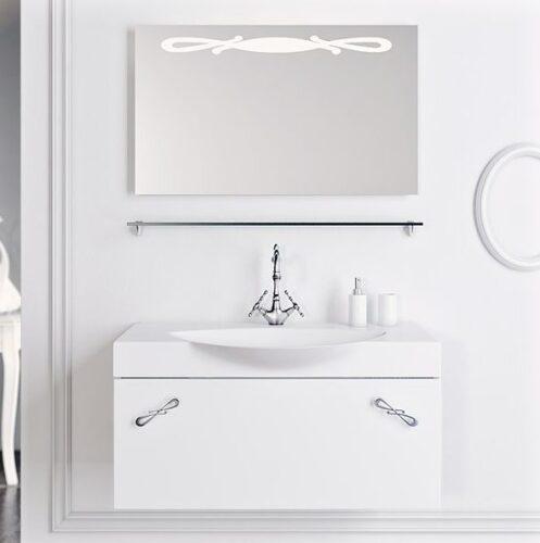 Мебель для ванной Aqwella Палермо 100 (белый)