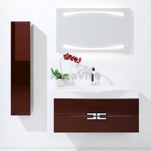 Мебель для ванны Aqwella Анкона 100 (коричневый) (р-на Bergamo)