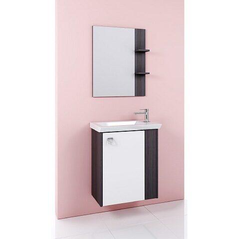 Мебель для ванной Aqwella Командор 60 подвесной (дуб графит)