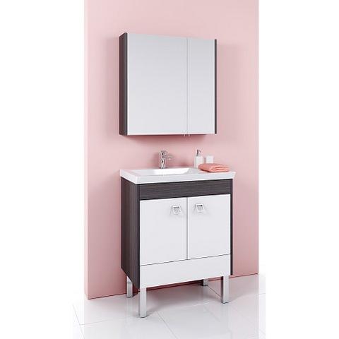 Мебель для ванной Aqwella Командор 71 напольный (дуб графит)