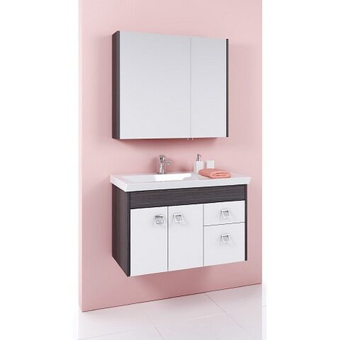Мебель для ванной Aqwella Командор 84 подвесной (дуб графит)