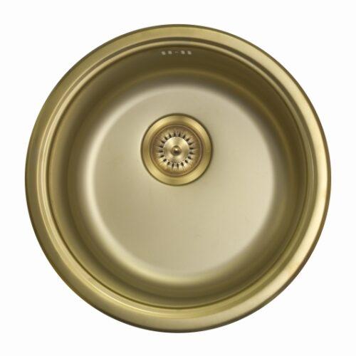 Кухонная мойка из нержавеющей стали Seaman SMR-450A Gold matt (PVD)