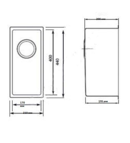 Кухонная мойка Seaman Eco Marino SME-210
