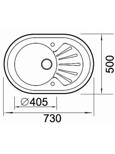 Кухонная мойка из нержавеющей стали и стекла Seaman Eco Glass SMG-730W
