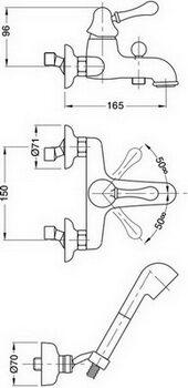 Смеситель для ванной Migliore Maya ML.MAY-8902