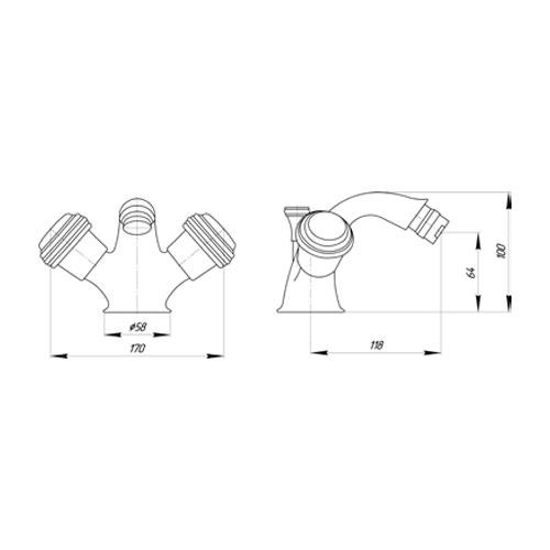 Смеситель для биде Migliore Axo Swarovski ML.AXO-644F