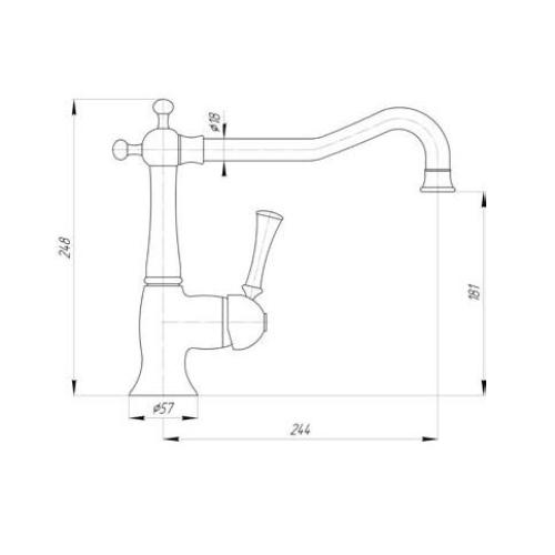 Смеситель для кухни Migliore Dallas ML.CUC-6882