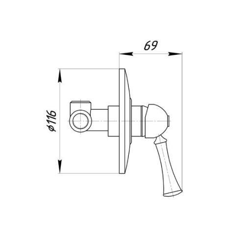 Смеситель для душа Migliore Dallas ML.DLS-6830