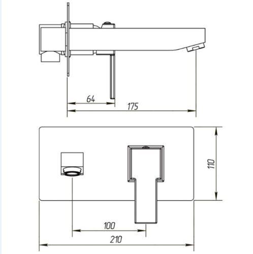 Смеситель для ванной Migliore Kvant ML.KVT-2745
