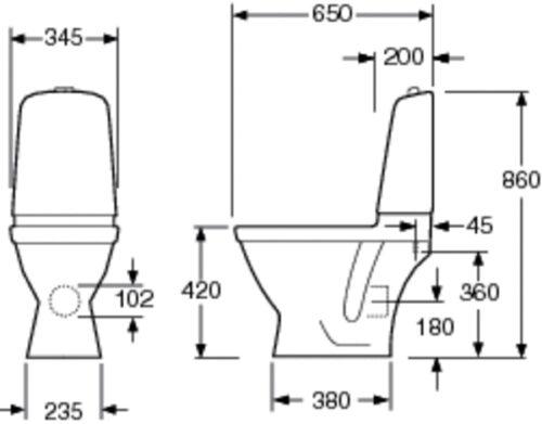 Унитаз Gustavsberg Nautic Duo 5510 с сиденьем