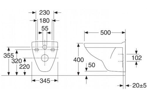 Унитаз Gustavsberg Nautic Duo 115530001000