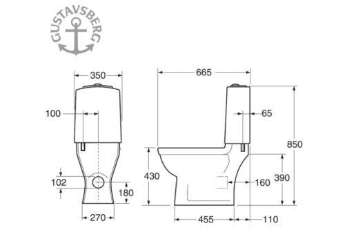 Унитаз-компакт  Gustavsberg Logic GB115695301707