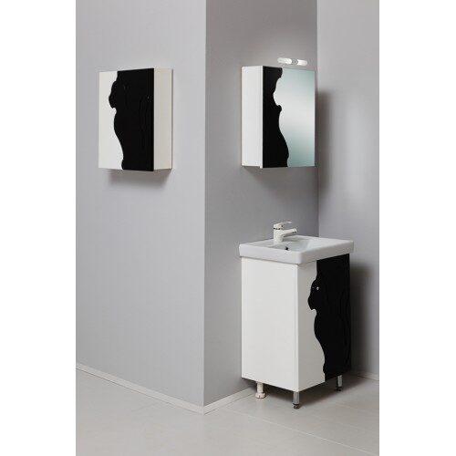 Мебель для ванной Onika Кошка 50К черно-белая (комплект)