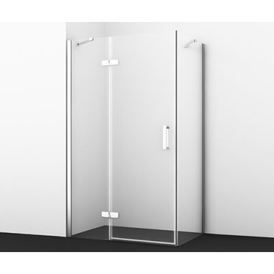 Душевой уголок 120х80 см прозрачное стекло WasserKRAFT ALLER 10H06LWHITE