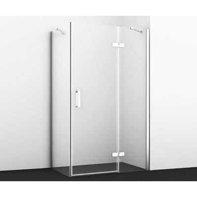 Душевой уголок 120х80 см прозрачное стекло WasserKRAFT ALLER 10H06RWHITE
