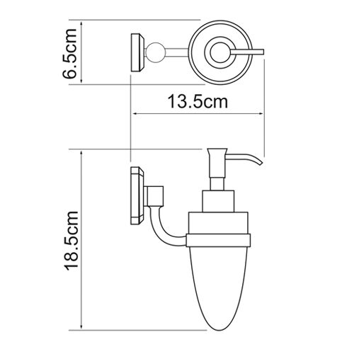 Дозатор для жидкого мыла WasserKRAFT Oder K-3099