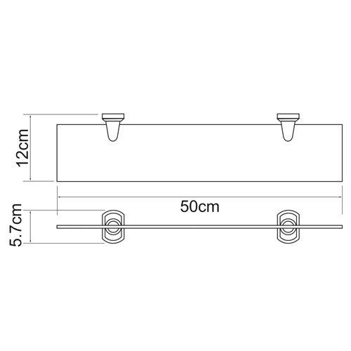 Полка стеклянная WasserKRAFT Oder K-3024