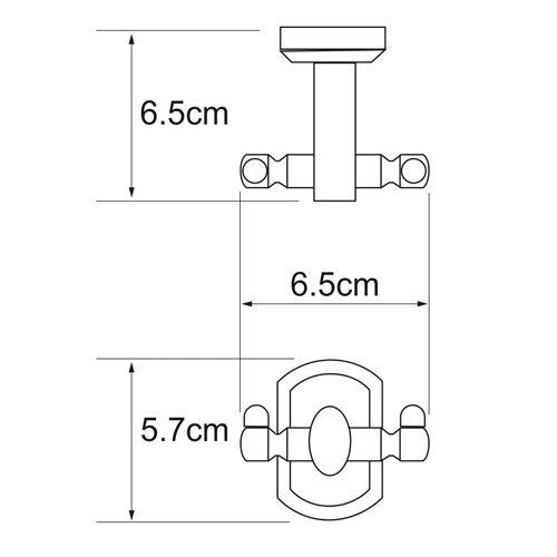 Крючок двойной WasserKRAFT Oder K-3023D