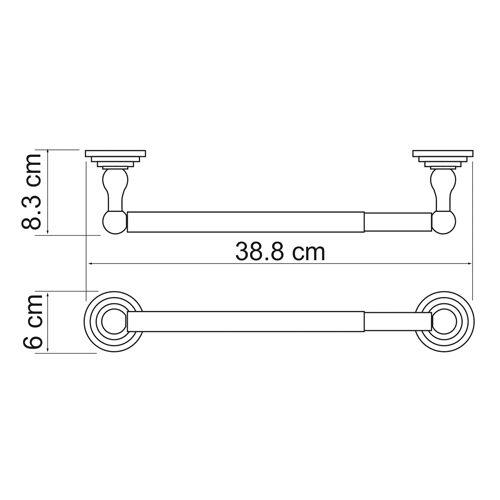 Держатель бумажных полотенец WasserKRAFT Ammer K-7022,32см